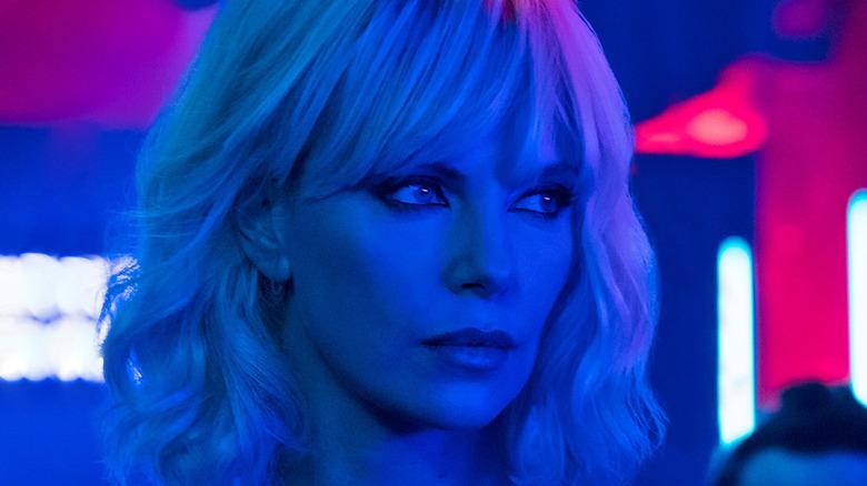 Charlize Theron in nightclub