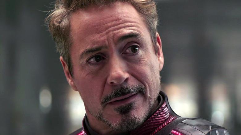 Tony Stark tilting head