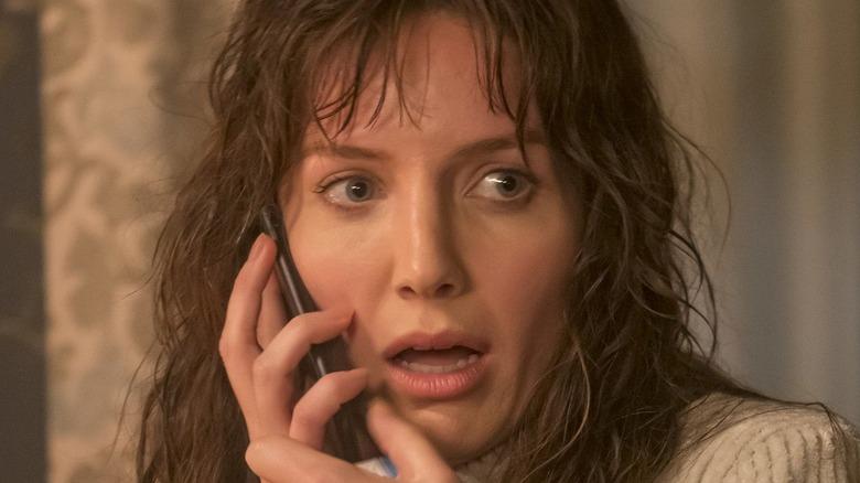 Maddie on phone