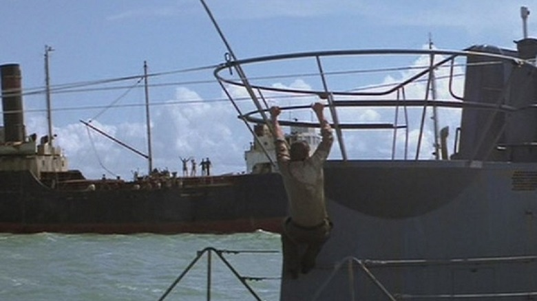 Indy boards a Uboat
