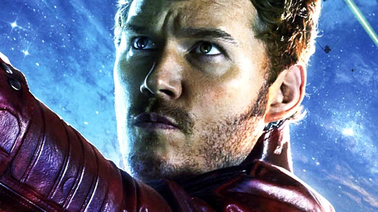 Chris Pratt as Peter Quill/Star-Lord in Guardians of the Galaxy