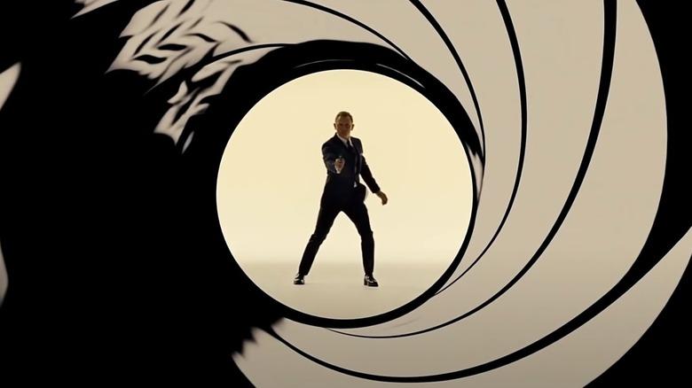 James Bond opening shot