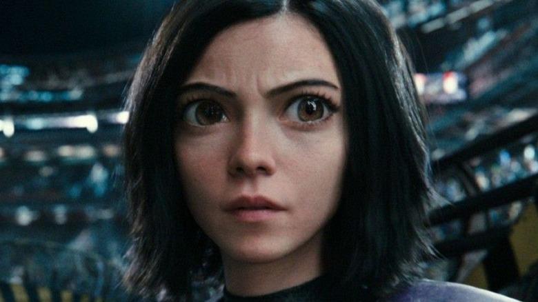 Alita looking concerned