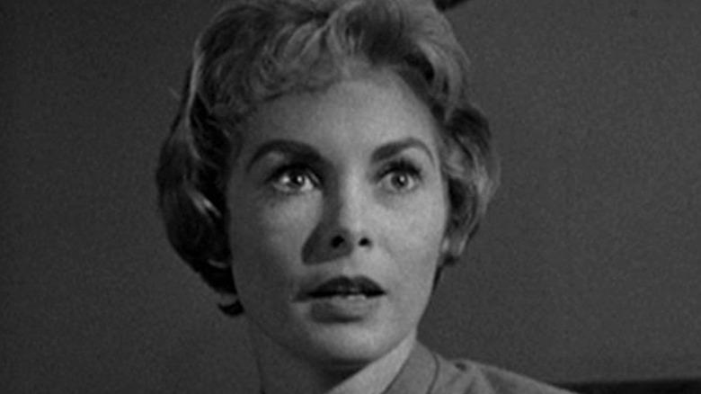 Marion Crane terrified in Psycho