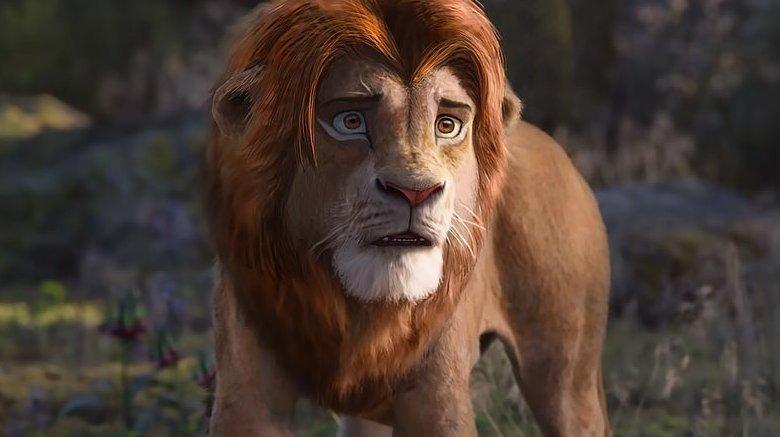 Simba Lion King live-action animation retouch artwork