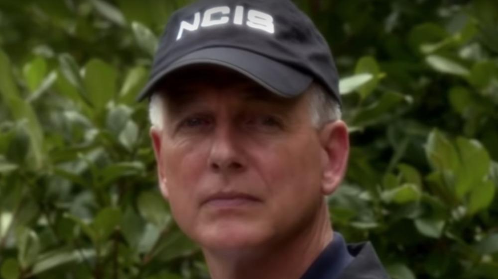 Mark Harmon wearing a cap