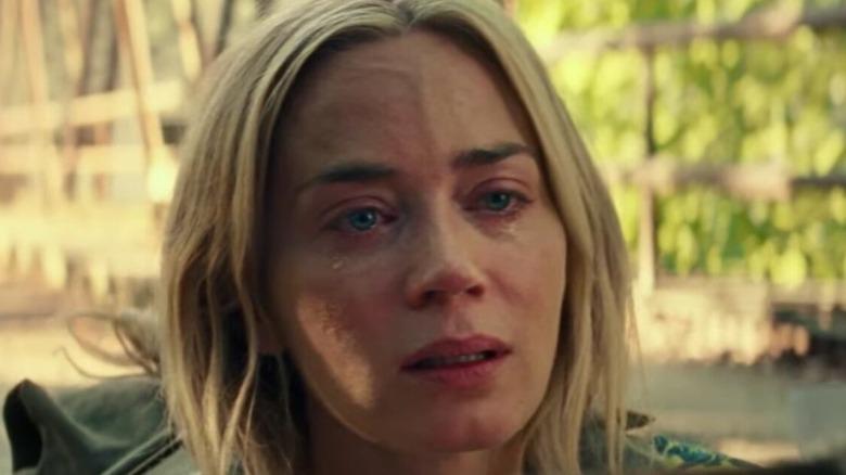 Evelyn in tears