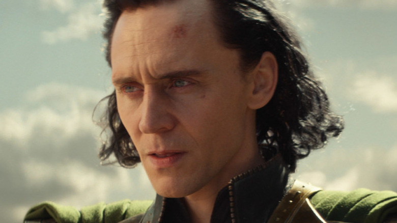 Loki staring into the distance