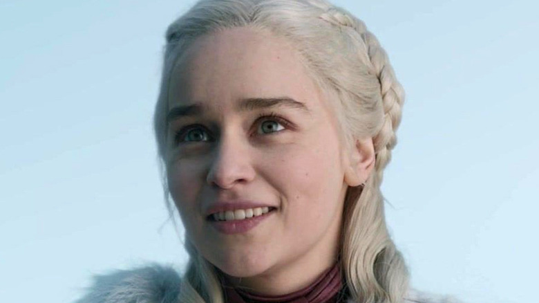 Daenerys smiling blue sky