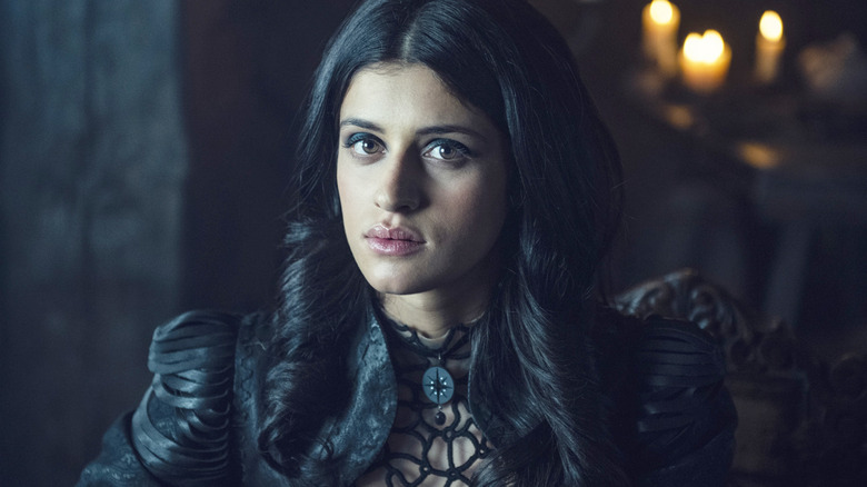 Anya Chalotra as Yennefer on The Witcher