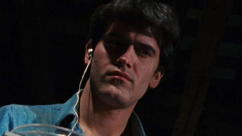 Ash listening in 'The Evil Dead'