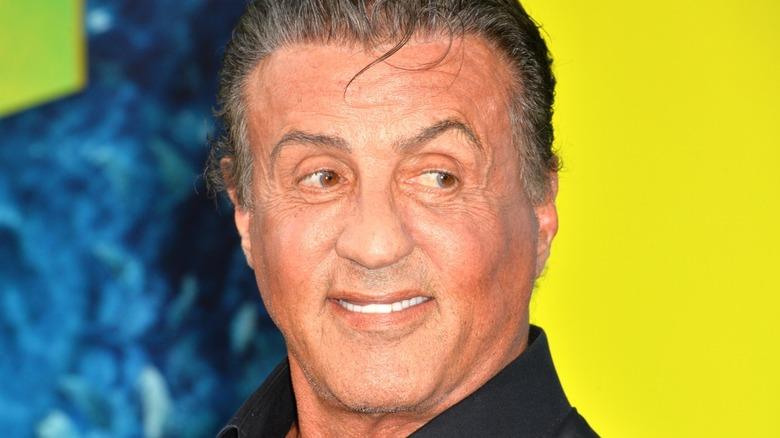 Sylvester Stallone smiling