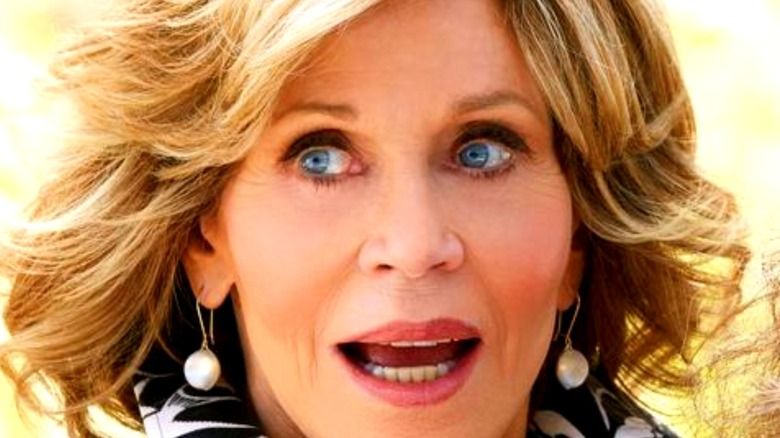Jane Fonda as Grace talking