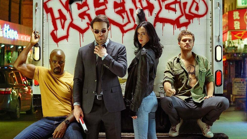 Luke Cage, Daredevil, Jessica Jones, and Iron Fist in The Defenders