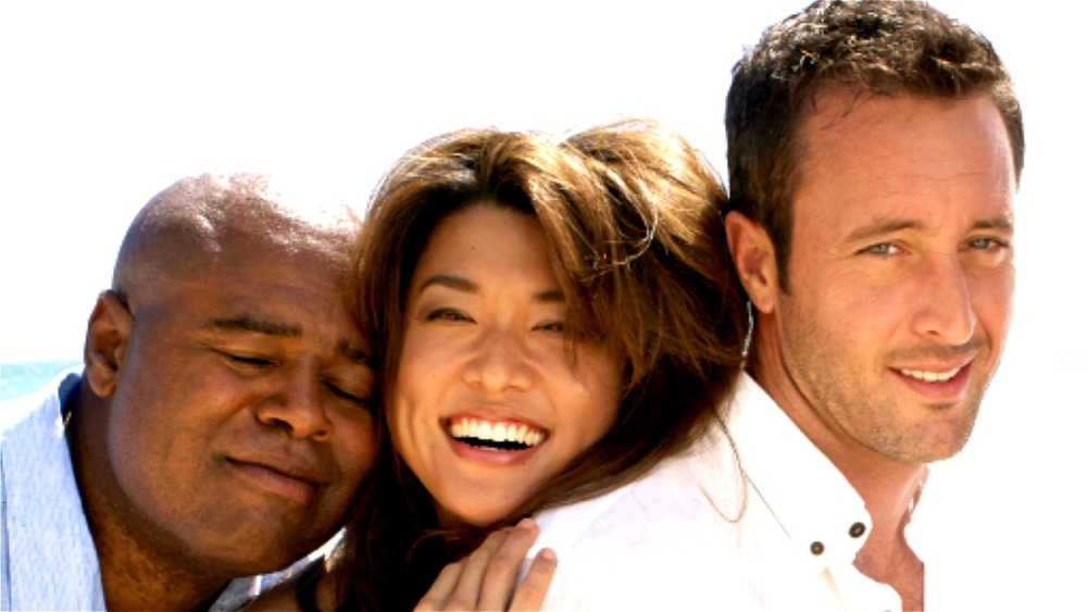 Hawaii Five-0 cast members smiling
