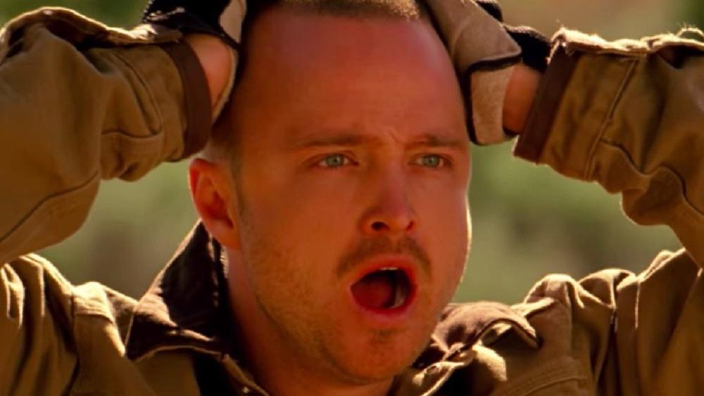 Jesse Pinkman looking shocked