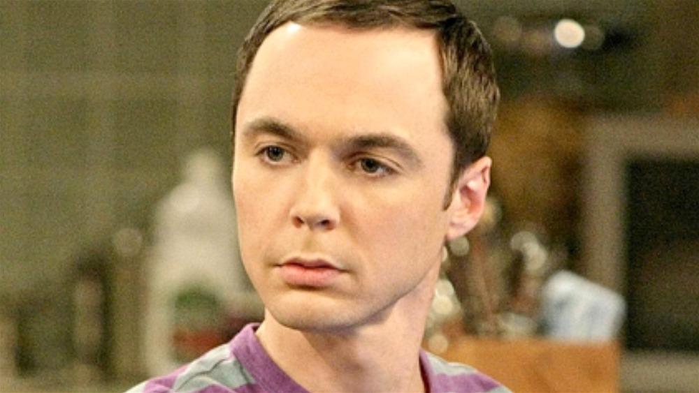 Sheldon looks serious on The Big Bang Theory