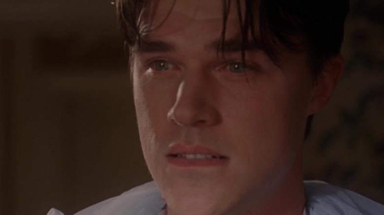 Finn Wittrock as Dandy, upset in Freak Show