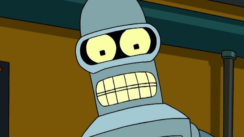 Bender talking to Fry