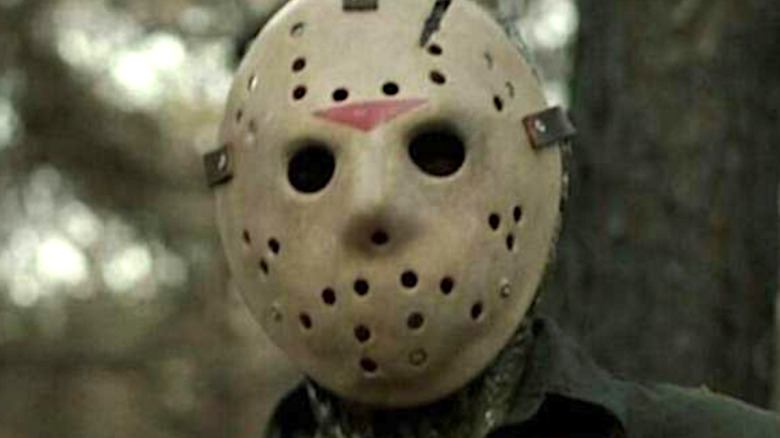 A closeup picture of Jason Voorhees