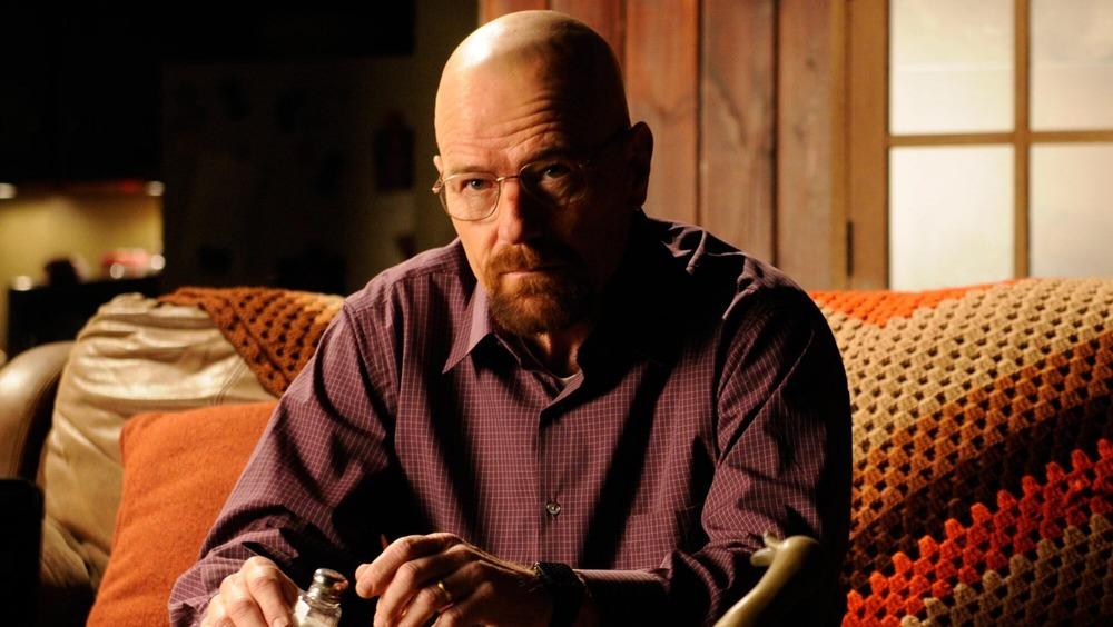 Walter White sitting bald