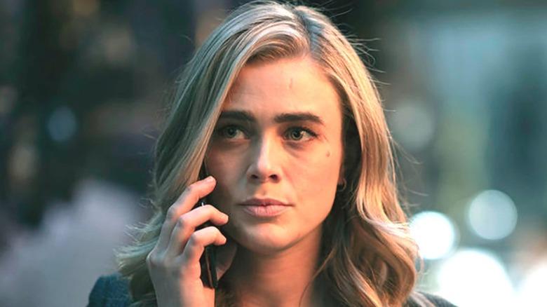 Melissa Roxburgh on the phone