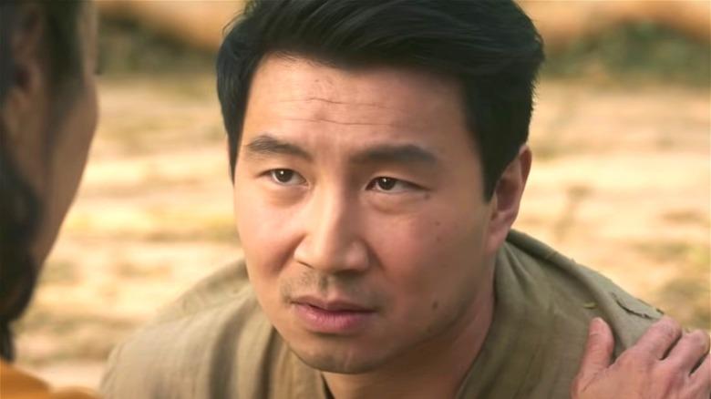 Shang-Chi looking upward