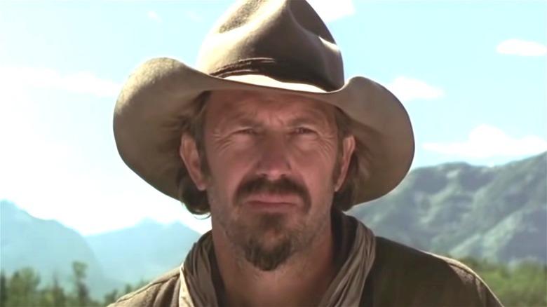 Kevin Costner stares sternly