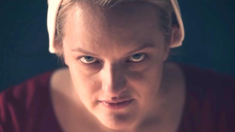 The Handmaid's Tale June Looks Up