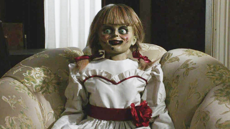 Annabelle doll sitting