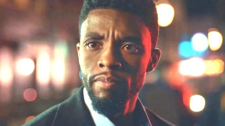 Chadwick Boseman looks serious in 21 Bridges