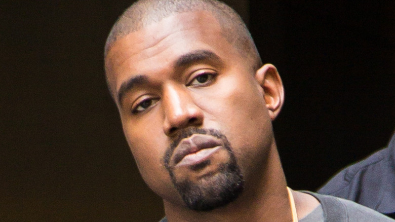Kanye West looking at the camera