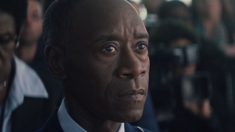 Don Cheadle Rhodey looking concerned