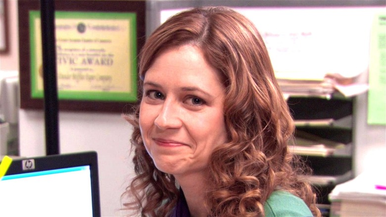 Pam Beesley smiling