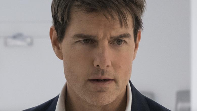 Tom Cruise as Ethan Hunt in bathroom