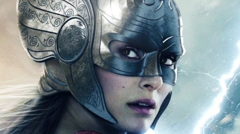 Fan art concept of Jane in Mighty Thor helmet