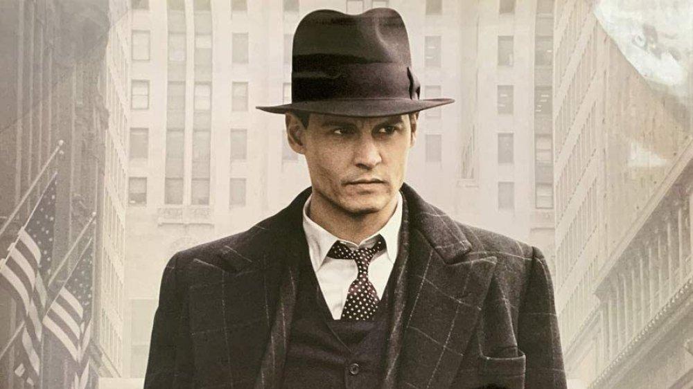Johnny Depp as John Dillinger Public Enemies poster
