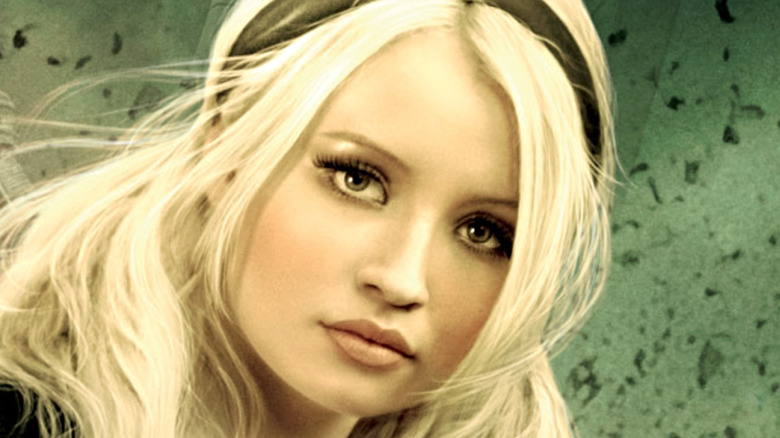 Emily Browning gazes at the camera