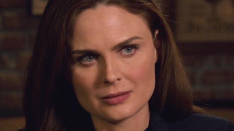 Brennan looks serious on Bones