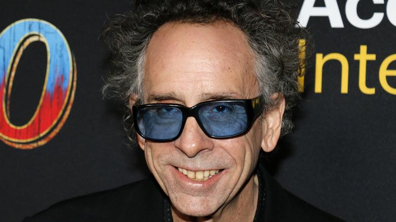Tim Burton smiling