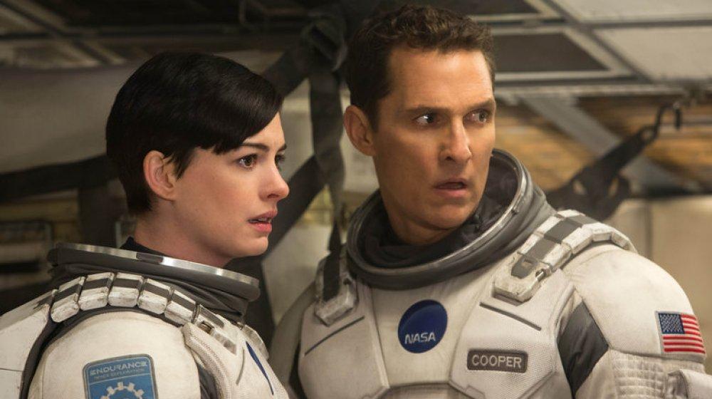 Anne Hathaway and Matthew McConaughey in Interstellar