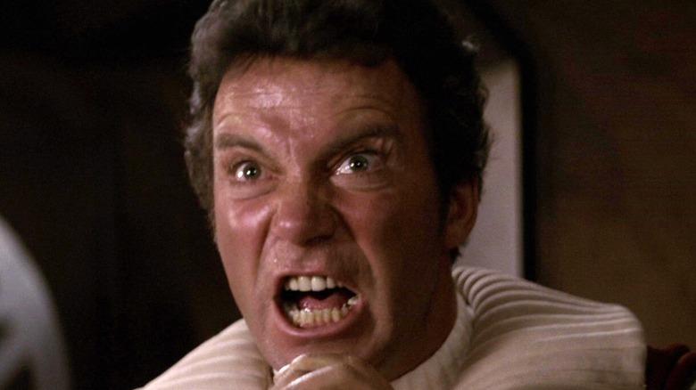 """Kirk (William Shatner) screams in """"Star Trek II: The Wrath of Khan"""""""