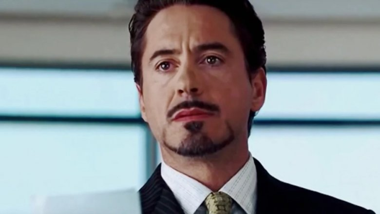 Robert Downey, Jr. as Tony Stark outing himself as Iron Man