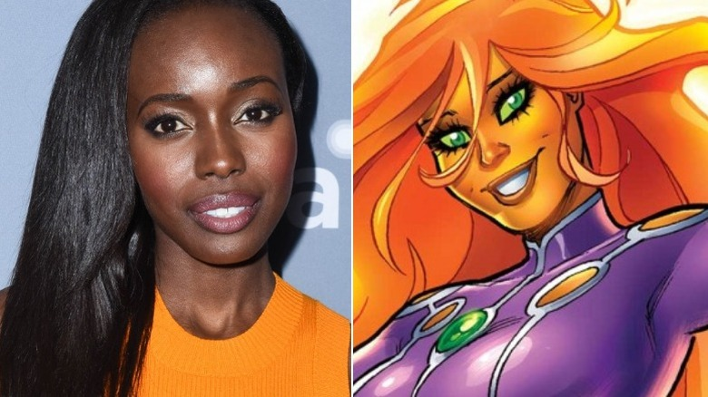 Anna Diop and Starfire