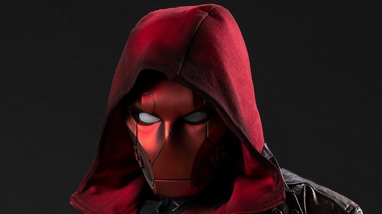 Curran Walters in the Red Hood costume
