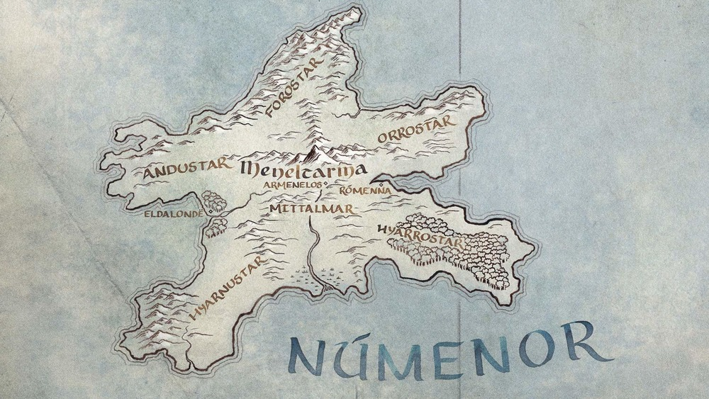Island of Númenor map