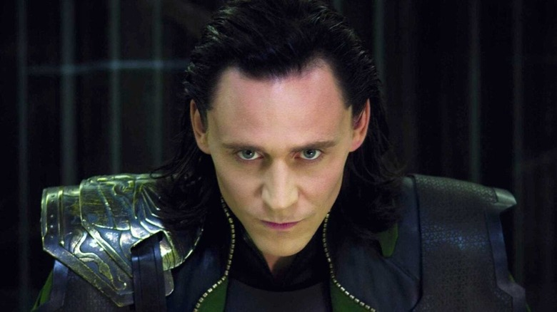 Tom Hiddleston as an incarcerated Loki in The Avengers