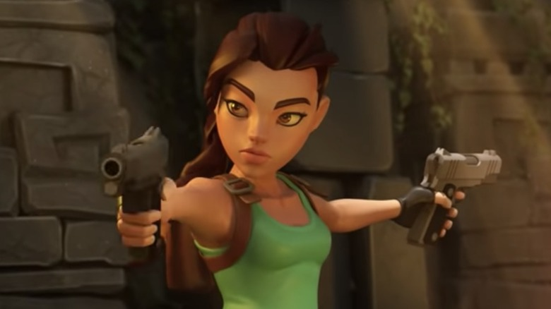 Lara Croft in Tomb Raider Reloaded