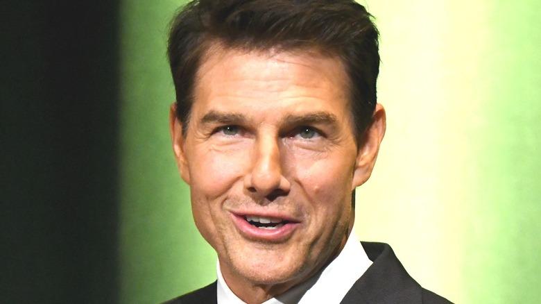 Tom Cruise smirking