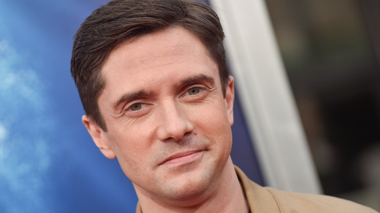 Topher Grace smiling